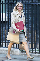 Downing Street, London, October 11th 2016. Government ministers arrive for the first post-conference cabinet meeting. PICTURED: Education Secretary Justine Greening