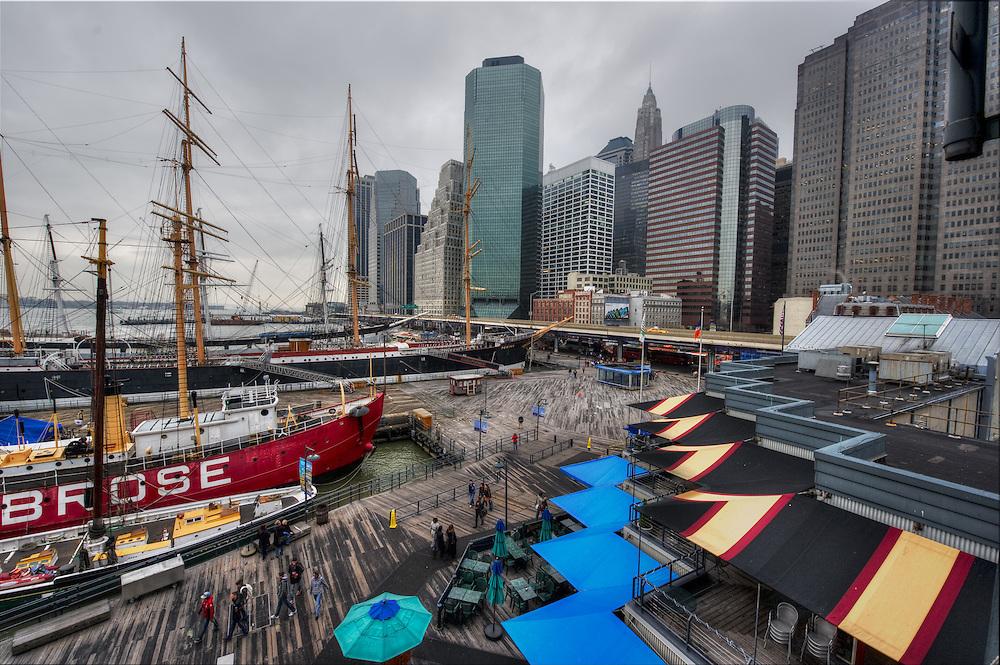 View from Pier 17 in Manhattan