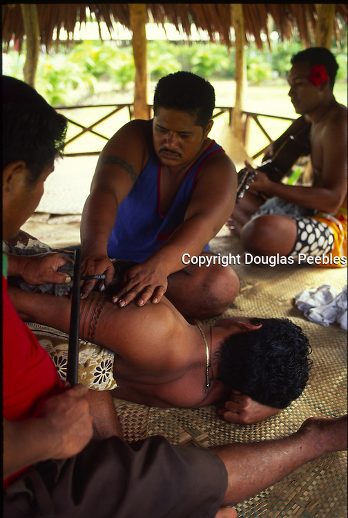 Tatoo ceremony, Upolu, Samoa, NMR (editorial use only)<br />