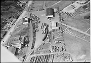 """Ackroyd 05049-1 """"Aerials March 14, 1954"""" (5x7 negs).(Campbell Crane & Trucking Service Inc. 3250 NW St. Helens Rd., Wilhelm Trucking, 3250 NW St. Helens Rd. Both of these businesses are listed at the same address in the 1954 phone book, althouth they are next-door to each other.)"""