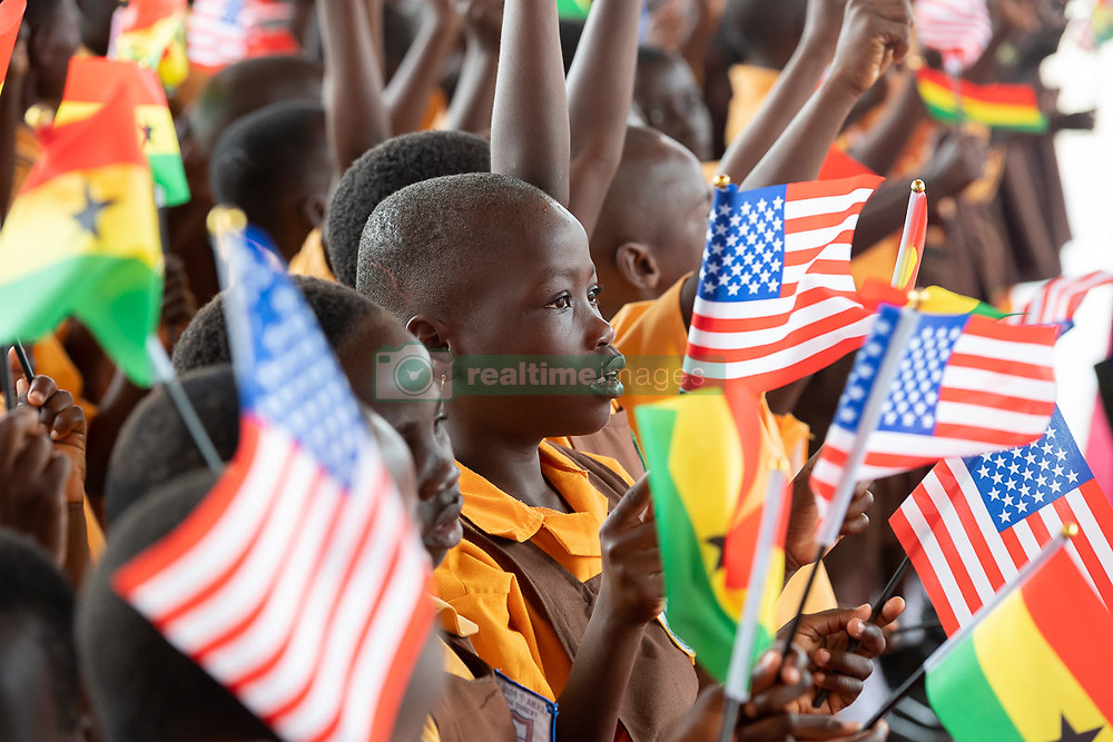 October 2, 2018 - Accra, Ghana, West Africa - Families and students wait for First Lady at Kotoka International Airport in Accra, Ghana. (Credit Image: ? Andrea Hanks/White House via ZUMA Wire/ZUMAPRESS.com)