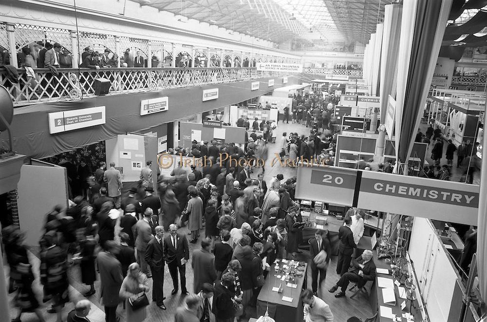 22/10/1963<br /> 10/22/1963<br /> 22 October 1963<br /> R.D.S. Scientific Exhibition opens, Ballsbridge, Dublin. A general view of the exhibition.
