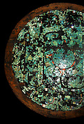 Ceremonial shield with mosaic decoration. Aztec or Mixtec, AD 1400-1521. In the British Museum
