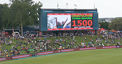 Pretoria 26-12-18. The 1st of three 5 day cricket Tests, South Africa vs Pakistan at SuperSport Park, Centurion. Day 1. Afternoon session. Fans below a big screen.<br /> Picture: Karen Sandison/African News Agency(ANA)