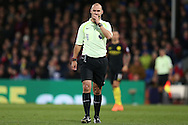 Referee Robert Madley looking on. Premier League match, Crystal Palace v Manchester city at Selhurst Park in London on Saturday 19th November 2016. pic by John Patrick Fletcher, Andrew Orchard sports photography.