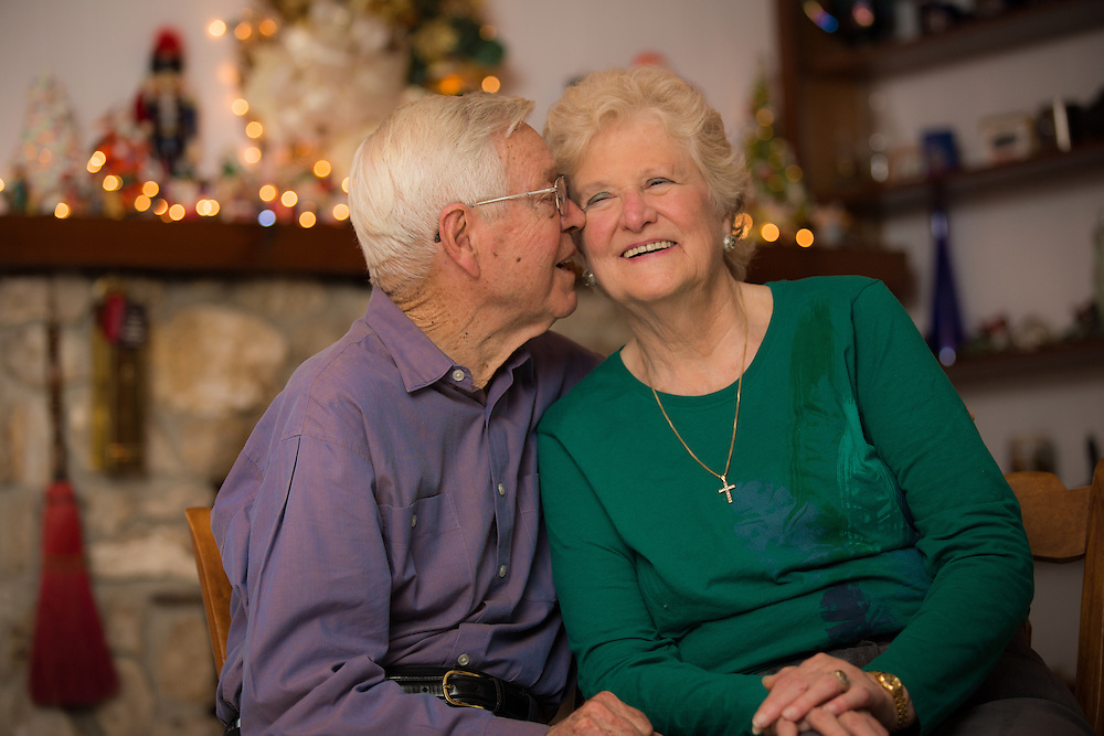 Jack and Marcia Hurst pose for love portraits at their home in Gainesville, Florida. They have been married for 57 years and will be celebrating their 58th anniversary January 29, 2015.