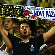 Fenerbahce's supporter shows the flag during their Turkish superleague soccer match S.B. Elazigspor between Fenerbahce at the Ataturk stadium in izmir Turkey on Saturday 18 August 2012. Photo by TURKPIX