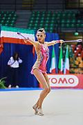 Arianna Malavasi atleta della società San Giorgio Desio durante la seconda prova del Campionato Italiano di Ginnastica Ritmica.<br /> La gara si è svolta a Desio il 31 ottobre 2015.