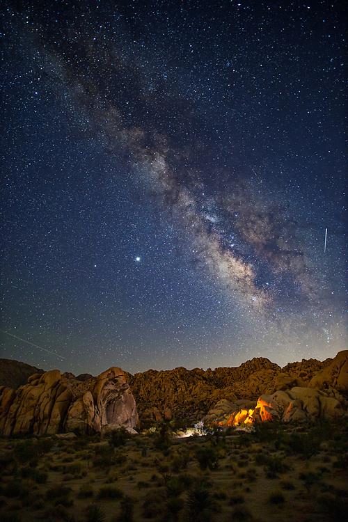 Milky Way Night Sky at Indian Cove at Joshua Tree National Park. ©justinalexanderbartels.com