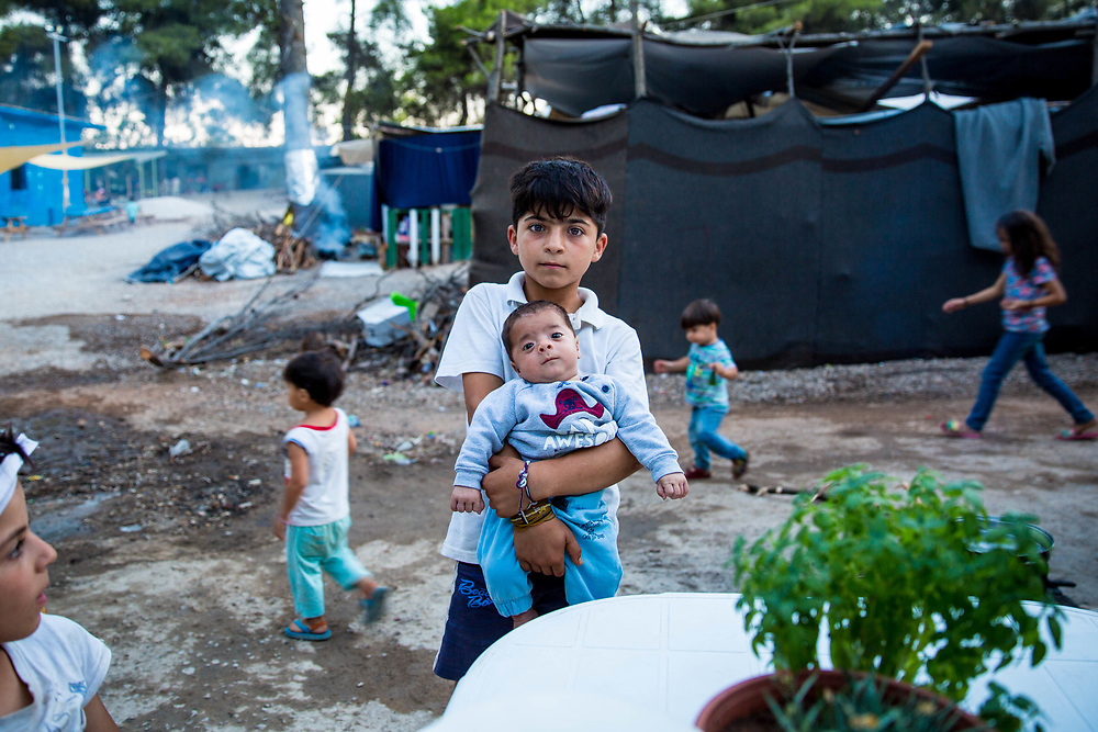2016 July-Ritsona Refugee Camp, Ritsona, Greece. Brothers.