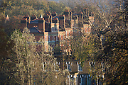 Victorian housing seen from Brockwell Park, Herne Hill, South London.