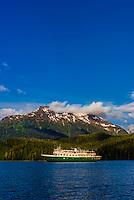 "Un-Cruise small cruise ship ""Wilderness Explorer"" in Nakwasina Sound,  Inside Passage, Southeast Alaska USA."