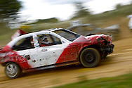 A severely shortened car in action during the race meeting at Smallfield Raceway, Surrey, UK on the 10th of July 2011 (photo by Andrew Tobin/SLIK images)