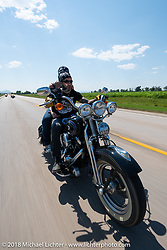 Xavier Muriel on the Cycle Source Ride during the 78th annual Sturgis Motorcycle Rally. Sturgis, SD. USA. Wednesday August 8, 2018. Photography ©2018 Michael Lichter.