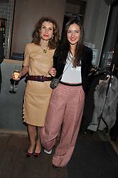Left to right, NANA YAKOVENKO and KSENIA YAKOVENKO attend the MARC Restaurants Truffle Dinner hosted by Marlon & Nadya Abela at Cassis, 232-236 Brompton Road, London on 13th February 2013.