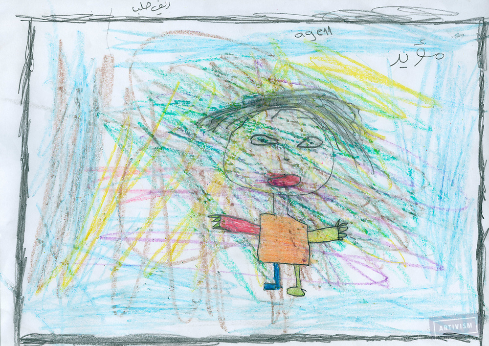 """Mouayyad / 14 / Aleppo<br /> (He painted the """"witch"""" in his dreams)"""