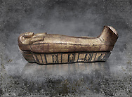 Acient Egyptian sacophagus of Merit -  inner coffin from tomb of Kha, Theban Tomb 8 , mid-18th dynasty (1550 to 1292 BC), Turin Egyptian Museum.
