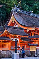 Japon, île de Honshu, région de Wakayama, Kumano Kodo, chemin du pelerinage, Nachi Taisha temple, site sacré classé au patrimoine mondial de l'UNESCO // Japan, Honshu, Wakayama, Kumano Kodo pilgrimage trail, Nachi Taisha temple, holy site, world heritage of the UNESCO