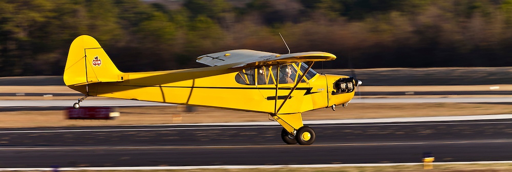 1946 Piper Cub J3C-65, captured during a winter training session at Atlanta's DeKalb Peachtree Airport (PDK).