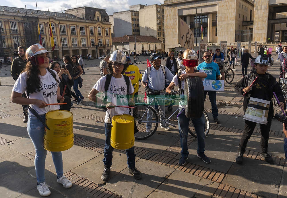 May 24, 2019 - Hundreds of people met in the Plaza de Bolivar in the city of Bogotà to support the global march for climate and environmental impact (Credit Image: © Daniel Garzon Herazo/ZUMA Wire)