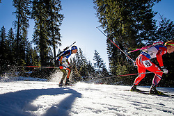 Simon Schempp (GER) during Men 15 km Mass Start at day 4 of IBU Biathlon World Cup 2015/16 Pokljuka, on December 20, 2015 in Rudno polje, Pokljuka, Slovenia. Photo by Ziga Zupan / Sportida