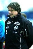 Trener Erik Brakstad, Moss. Fotball: Moss - Sogndal. Tippeligaen 2002. Melløs, Moss. 14. april 2002. (Foto: Peter Tubaas/Digitalsport)