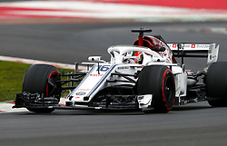 March 1, 2018 - Barcelona, Spain - Motorsports: FIA Formula One World Championship 2018, Test in Barcelona, , #16 Charles Leclerc (MON Sauber Ferrari, Ferrari) (Credit Image: © Hoch Zwei via ZUMA Wire)