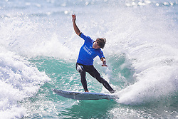 Wildcard Evan Geiselman of the USA caused the first major upset when he defeated top seed Matt Wilkinson of Australia in Heat 1 of Round Two of the 2017 Hurley Pro Trestles at Trestles, CA, USA.  Geiselman now advances to Round Three of competition.