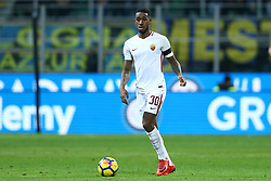 January 21, 2018 - Milan, Italy - Gerson of Roma  during the Serie A match between FC Internazionale and AS Roma at Stadio Giuseppe Meazza on January 21, 2018 in Milan, Italy. (Credit Image: © Matteo Ciambelli/NurPhoto via ZUMA Press)