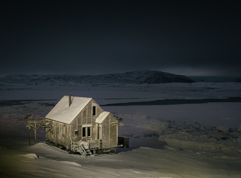 Isortoq by night. Life in and around the small Inuit settlement of Isortoq (population of 64), in East Greenland.