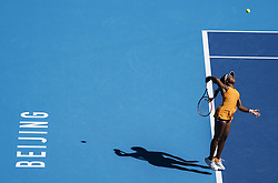 BEIJING, Oct. 2, 2018  Sloane Stephens of the United States serves during the women's singles second round match against Zheng Saisai of China at China Open tennis tournament in Beijing, China, Oct. 2, 2018. Stephens won 2-0. (Credit Image: © Fei Maohua/Xinhua via ZUMA Wire)