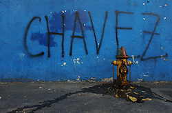 Pro-government graffiti on the streets of Caracas.