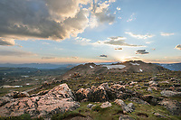 Clearing storm at sunset over Beartooth Pass Shoshone National Forest Wyoming