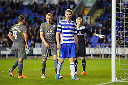 Pavel Pogrebnyak (RUS) of Reading looks on - Photo mandatory by-line: Rogan Thomson/JMP - 07966 386802 - 14/04/2014 - SPORT - FOOTBALL - Madejski Stadium, Reading - Reading v Leicester City - Sky Bet Football League Championship.