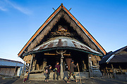 Konyak Naga Morong or communal house<br /> Konyak Naga headhunting Tribe<br /> Mon district<br /> Nagaland,  ne India