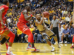 Feb 26, 2018; Morgantown, WV, USA; West Virginia Mountaineers guard Jevon Carter (2) drives towards the basket during the second half against the Texas Tech Red Raiders at WVU Coliseum. Mandatory Credit: Ben Queen-USA TODAY Sports
