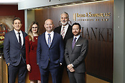 SHOT 1/8/19 12:19:22 PM - Bachus & Schanker LLC lawyers James Olsen, Maaren Johnson, J. Kyle Bachus, Darin Schanker and Andrew Quisenberry in their downtown Denver, Co. offices. The law firm specializes in car accidents, personal injury cases, consumer rights, class action suits and much more. (Photo by Marc Piscotty / © 2018)