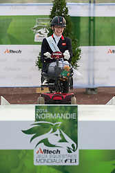 Sophie Christiansen and Janeiro World Champion in the individual competition grade Ia - Alltech FEI World Equestrian Games™ 2014 - Normandy, France.<br /> © Hippo Foto Team - Jon Stroud <br /> 25/06/14