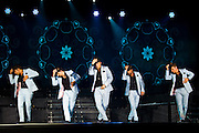 NANJING, CHINA - JUNE 06: (CHINA OUT) <br /> <br /> Backstreet Boys Perform In China<br /> Brian Littrell, Kevin Richardson, Nick Carter, Howie Dorough and A. J. McLean of Backstreet Boys perform on the stage in concert at Wutaishan Sports Center on June 6, 2013 in Nanjing, Jiangsu Province of China. <br /> ©ChinaFoto/Exclusivepix