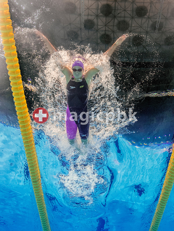 Mireia Belmonte Garcia of Spain swims the butterfly leg in the women's 200m Individual Medley (IM) Heats during the 15th FINA World Aquatics Championships at the Palau Sant Jordi in Barcelona, Spain, Wednesday, July 31, 2013. (Photo by Patrick B. Kraemer / MAGICPBK)