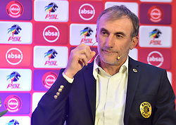 South Africa: Johannesburg: Kaizer Chiefs coach Giovanni Solinas, addressing members of the media on the much anticipated Soweto Derby on Saturday when Orlando Pirates host rivals Kaizer Chiefs for Absa Premiership match at FNB Stadium.<br />Picture: Itumeleng English/African News Agency (ANA)