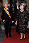 Koningin Beatrix heeft afscheid genomen van Herman Tjeenk Willink als vice-president van de Raad van State.<br /> <br /> Queen Beatrix has said goodbye to Herman Tjeenk Willink as vice-president of the Council of State.<br /> <br /> Op de foto / On the Photo:<br /> <br /> <br /> <br />  Koningin Beatrix en Herman Tjeenk Willink