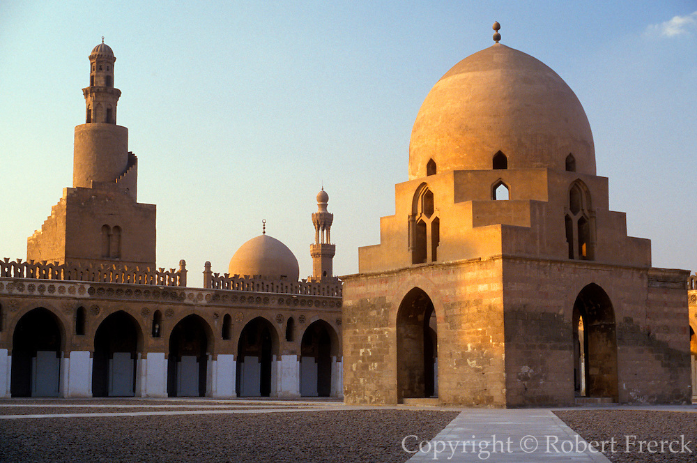 EGYPT, CAIRO the Mosque of Ibn Tulun; built in 876 AD with famous spiral minaret and is one of the oldest and finest mosques in Cairo