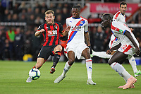 Football - 2018 / 2019 Premier League - AFC Bournemouth vs. Crystal Palace<br /> <br /> Bournemouth's Ryan Fraser beats Aaron Wan-Bissaka of Crystal Palace to the loose ball at the Vitality Stadium (Dean Court) Bournemouth <br /> <br /> COLORSPORT/SHAUN BOGGUST