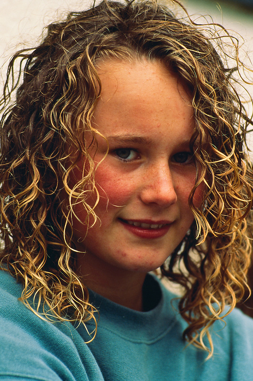 Portrait of a young Irish girl..