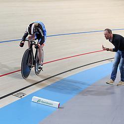 18-12-2016: Wielrennen: NK baanwielrennen: Apeldoorn   <br /> APELDOORN (NED) wielrennen      <br /> Kyra Lamberink heeft de 500 meter gewonnen op het NK Baanwielrennen. De Bergentheimse bleef Shanne Braspennincx (zilver) en Laurine van Riessen (brons) voor.<br /> Lamberink reed ook de snelste tijd in de kwalificatie.