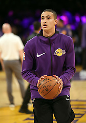 November 17, 2017 - Los Angeles, California, U.S - Lakers Kyle Kuzma during warms ups prior to the start of  the contest as the host Los Angeles Lakers fall to the  visiting Phoenix Suns 122-113 on Friday, November 17, 2017  at the Staples Center in Los Angeles, California.  BURT  HARRIS/PI (Credit Image: © Prensa Internacional via ZUMA Wire)