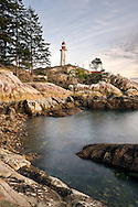 The Point Atkinson Lighthouse in Lighthouse Park, West Vancouver, British Columbia, Canada