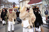 Buso on the Monday procession of the Busojaras Spring  festival 2010 Mohacs Hungary - Stock photos .<br /> <br /> Visit our HUNGARY HISTORIC PLACES PHOTO COLLECTIONS for more photos to download or buy as wall art prints https://funkystock.photoshelter.com/gallery-collection/Pictures-Images-of-Hungary-Photos-of-Hungarian-Historic-Landmark-Sites/C0000Te8AnPgxjRg