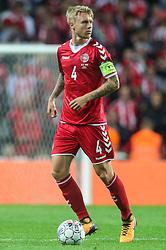 September 1, 2017 - Copenhagen, Denmark - Simon Kjaer (DEN), during the FIFA 2018 World Cup Qualifier between Denmark and Poland at Parken Stadion on September 1, 2017 in Copenhagen. (Credit Image: © Foto Olimpik/NurPhoto via ZUMA Press)